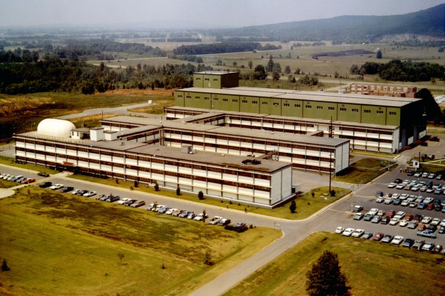 The Francis J. McMorrow Missile Laboratories is shown in its early days at Redstone Arsenal. The lab was dedicated 50 years ago today.