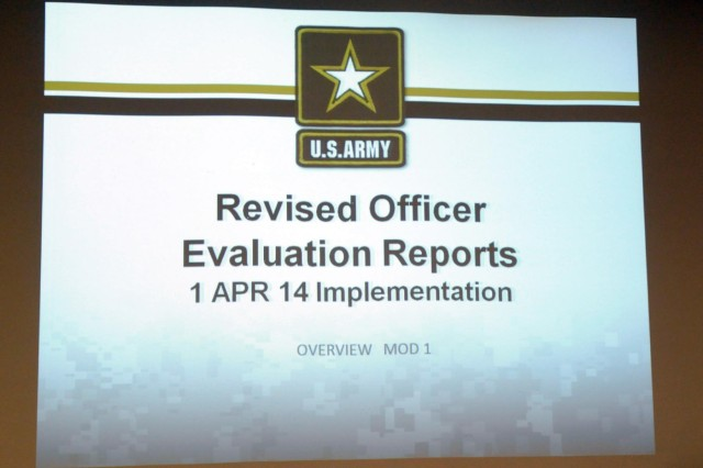 Several major changes to OERs will take effect April 1. Officers are encouraged to view updated briefs and gain more knowledge on what to expect by visiting the HRC Evaluations Systems Homepage at www.hrc.army.mil/TAGD/Evaluation%20Systems%20Homepage.