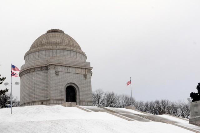 The President William McKinley Monument, Canton, Ohio, Jan. 25, 2014.