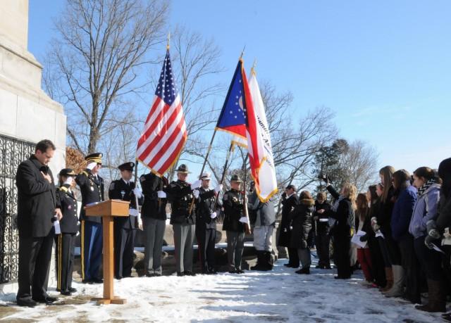 W.H. Harrison Presidential Wreath Laying Ceremony 2014