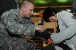 Japanese special-needs students receive tour of Camp Zama