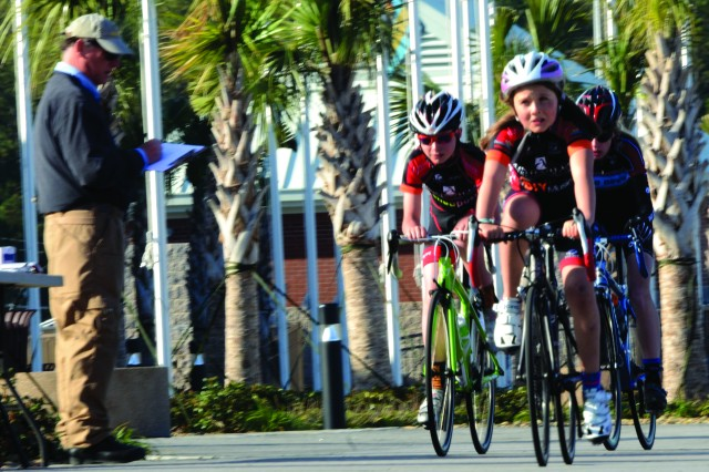 Fort Jackson hosted a criterium bicycling event that drew about 50 racers to Hilton Field March 9, 2014.