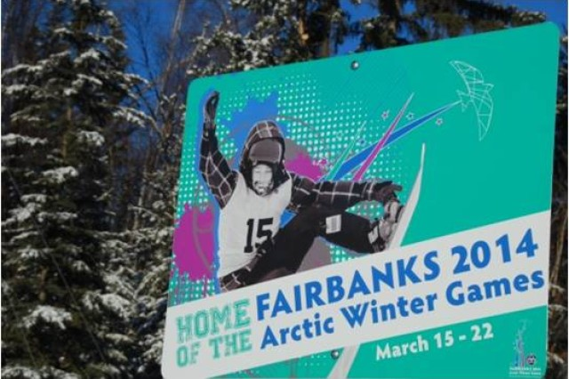 Fairbanks, Alaska is hosting the 2014 Arctic Winter Games, March 15 through 22. More than 2,000 volunteers, many from Fort Wainwright will welcome athletes and visitors from nine circumpolar regions in the spirit of cooperation and competition. The Slalom snowboarding event is scheduled for Monday at the Birch Hill Ski and Snowboard area on post.