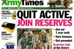 River Assault photo headlined 'Quit Active, Join Reserve' front page story on Army Times