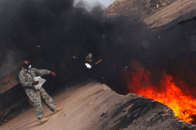 Converting solid waste to energy would eliminate the need for burn pits, which are hazardous to health and the environment.