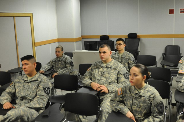 "CAMP CASEY, South Korea - Soldiers from 210th Field Artillery Brigade, 2nd Infantry Division receive a briefing before taking a written exam as part of the Best Warrior Competition on Camp Casey, South Korea March 18, 2014. The Best Warrior competition is a four day event where Soldiers are tested physically, mentally, and in the areas of land navigation, warrior tasks and battle drills, and a formal board. This event showcases Soldiers and demonstrates 210th FA Bde.""Fight Tonight"" spirit. (U.S. Army photos by Pfc. Song Gun-woo 210th Field Artillery Brigade Public Affairs/Released)."