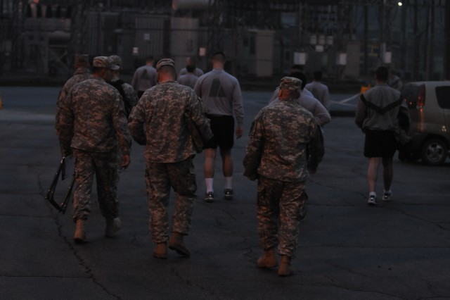 "CAMP CASEY, South Korea - Soldiers from 210th Field Artillery Brigade, 2nd Infantry Division take an Army Physical Fitness Test for the Best Warrior Competition on Camp Casey, South Korea March 18, 2014. The APFT is comprised of a two minute push up event, two minute sit-up event and a two mile run. The Best Warrior competition is a four day event where Soldiers are tested physically, mentally, and in the areas of land navigation, warrior tasks and battle drills, and a formal board. This event showcases Soldiers and demonstrates 210th FA Bde. ""Fight Tonight"" spirit. (U.S. Army photos by Spc. Sara E. Wiseman 210th Field Artillery Brigade Public Affairs/Released)."
