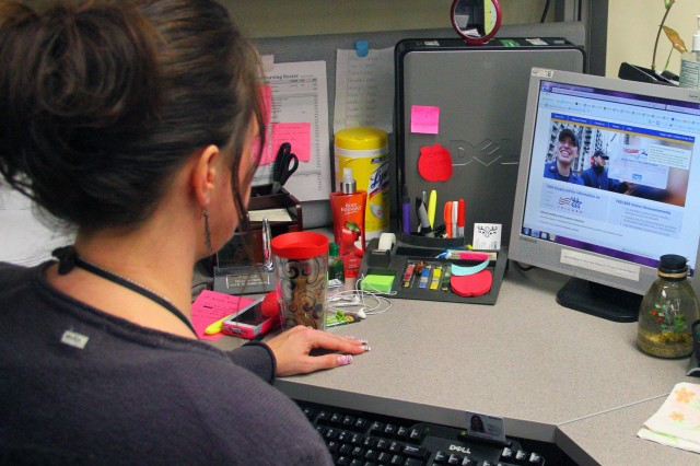 Christie Thies, military family member, demonstrates how simple and easy TRICARE online can be utilized.