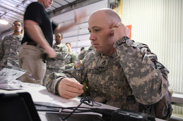 Staff Sgt. Burton familiarizes with TCAPS