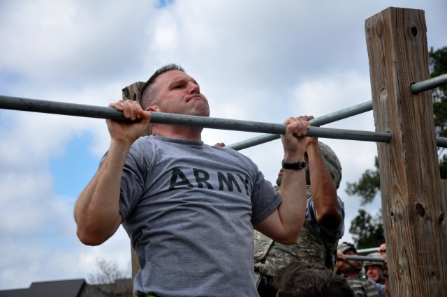 Sgt. First Class Sean Peterson is one of five Reserve Soldiers who graduated Phase I of the Master Fitness Trainer Course at Fort Jackson, S.C., March 14, 2014.