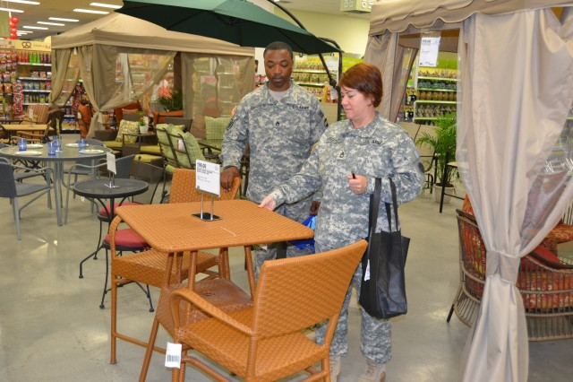 Shoppers browse the new Exchange at Fort Bragg, N.C., which opened June 2012.