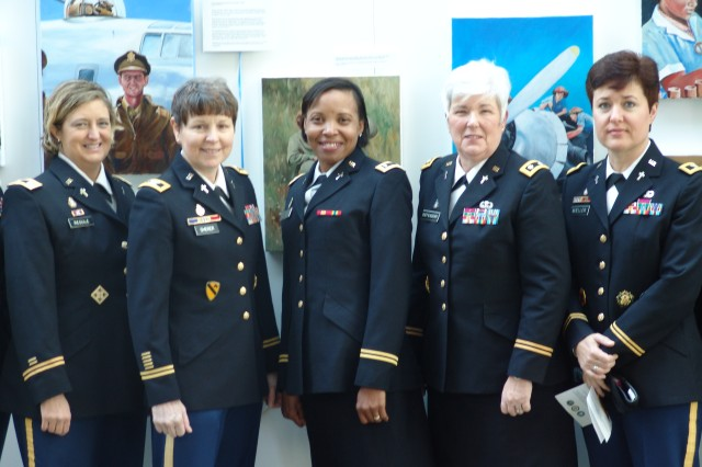 Women of the U.S. Army Chaplain Corps came together in March 2013 to celebrate 40 Years of Women in the Military Chaplaincy. This observation included the ribbon cutting at an exhibit at Arlington National Cemeter's Women in Military Service for America memorial in Arlington, VA.