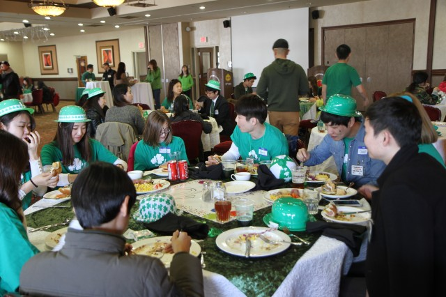 "CAMP WALKER, South Korea ""As part of the 19th Expeditionary Sustainment Command's 21st annual Korean American Friendship Circle, Soldiers, Families, student's, and sponsors came together March 15, at the Evergreen Community Center, here, to celebrate St. Patrick's Day."