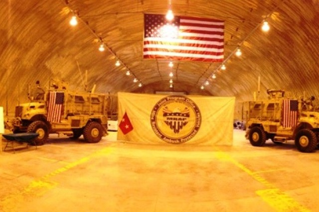 Shown here is the MaxxPro survivability upgrade mission completion. A total of 1,119 trucks were upgraded during David Hullinger's deployment to Afghanistan. Hullinger is a human factors engineer with the Tank-automotive and Armaments Command field element, in Warren, Mich.