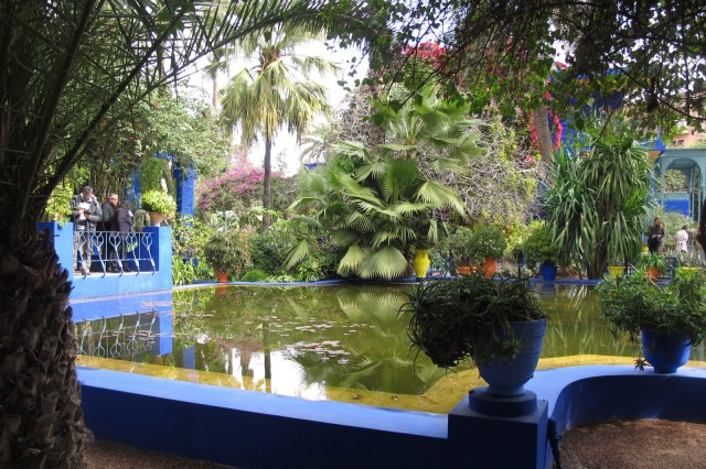 The Majorelle Gardens offer a plush escape from the arid landscape of Marrakesh.