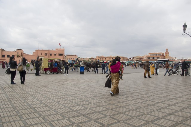 The Jemaa el-Fnaa is the heart of Marrakesh.
