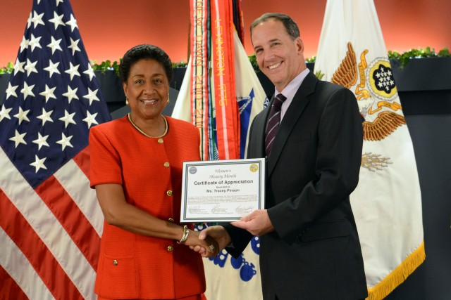 Tracey Pinson, director of the Army's Small Business Program, honored at Pentagon