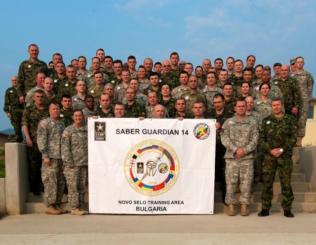 Saber Guardian 2014 Multinational Brigade Staff Group Photo