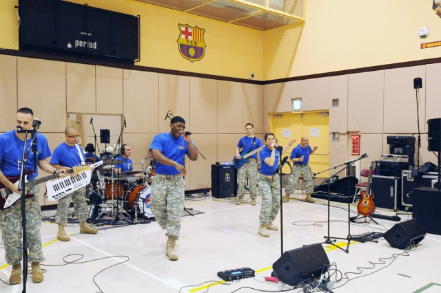 "The U.S. Army Japan Band provided musical entertainment during the ""Take Back the Night"" barbecue event held at the Camp Zama Youth Center on April 4 to jump start the events dedicated to promoting sexual assault awareness. (U.S. Army photos by Candateshia Pafford)"