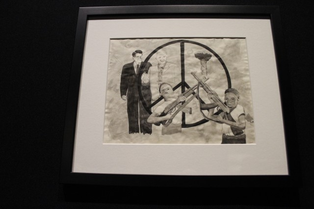 Untitled (Peace Sign), on loan from American Overseas Schools Historical Society-David Glasgow Farragut High School College, Rota, Spain
