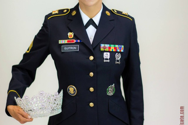 "Staff Sgt. Allaina Guitron uses her title of ""Ms. Veteran America"" to tell her Army story."