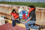 Students paint Colorado River Locks to send safety message