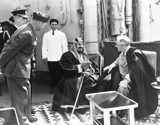 Laying the Foundation: Roosevelt meets with King Abdul Aziz