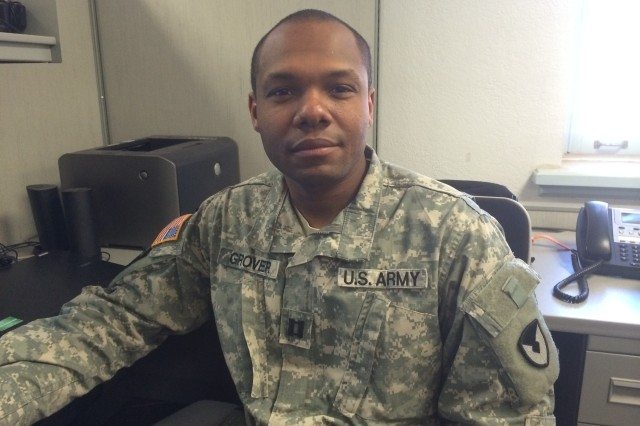 Capt. Demario A. Grover, Contracting Team Leader, 635th Contingency Contracting Team, Fort Bliss, Texas