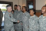 Vice Chief greets Soldier Show members