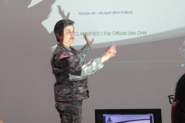 CPT Elizabeth Cracraft from the Bavarian Medical Department Activity briefs Soldiers on Sexual Assault Medical Management in Bavaria.