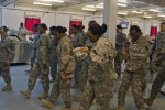 Sexual Assault Awareness Month flash mob adds flavor to lunch on Camp Arifjan [Image 1 of 3]