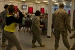 Sexual Assault Awareness Month flash mob adds flavor to lunch on Camp Arifjan [Image 3 of 3]