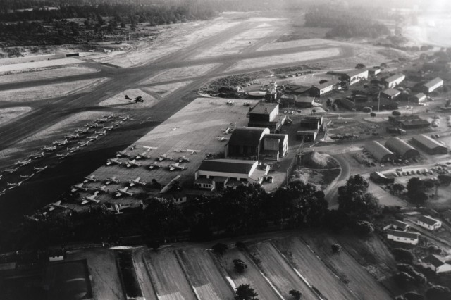 The U.S. Army Corps of Engineers Sacramento District has completed an $18 million groundwater cleanup and environmental restoration project at the former Naval Auxiliary Air Station in Monterey, Calif., (shown circa 1945) about 15 years and $4.5 million ahead of schedule.