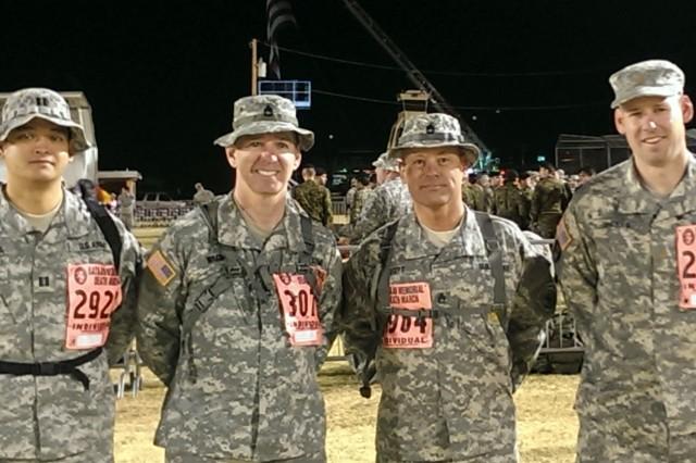 (Left to right) Capt. Louie Pineda, Sgt. 1st Class Donald Wagman, Sgt. 1st Class Timothy Britt, Maj. Stephen Sheets.