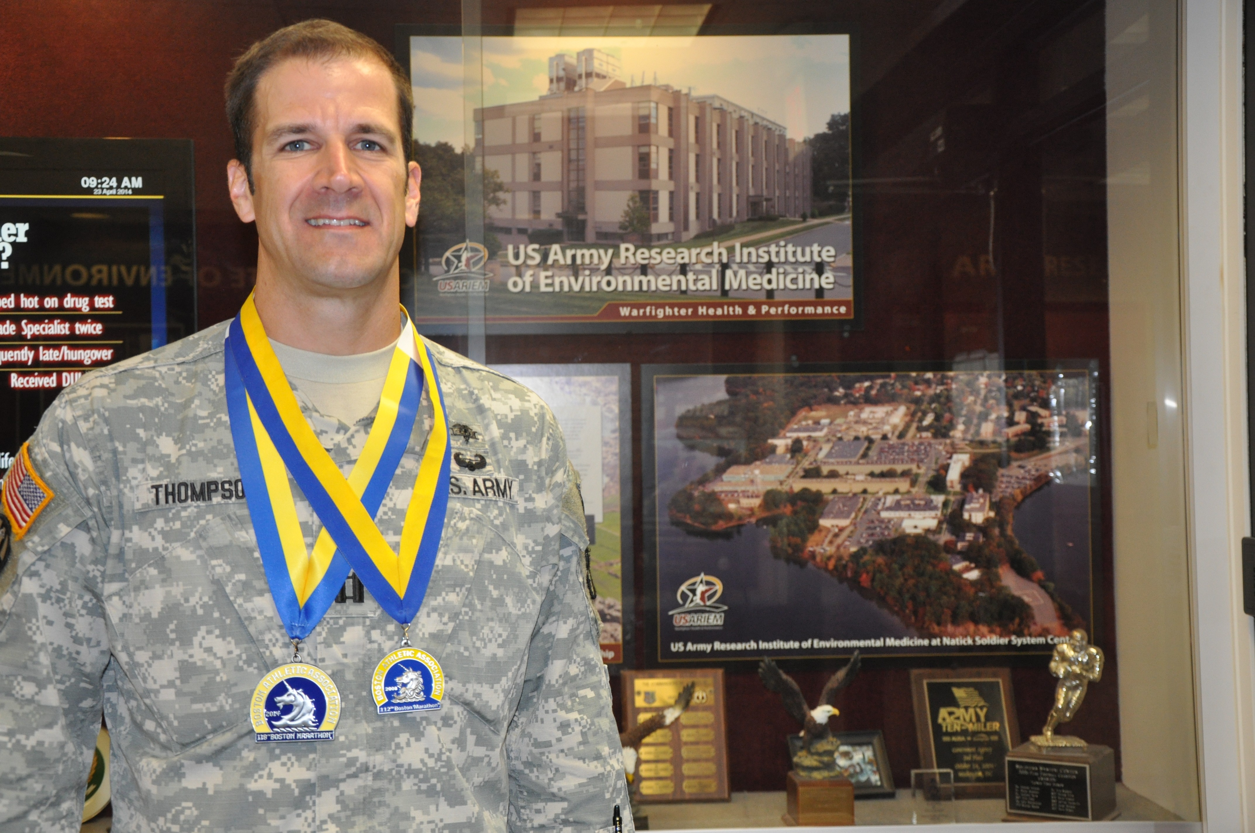 USARIEM Soldier finishes second Boston Marathon   Article   The