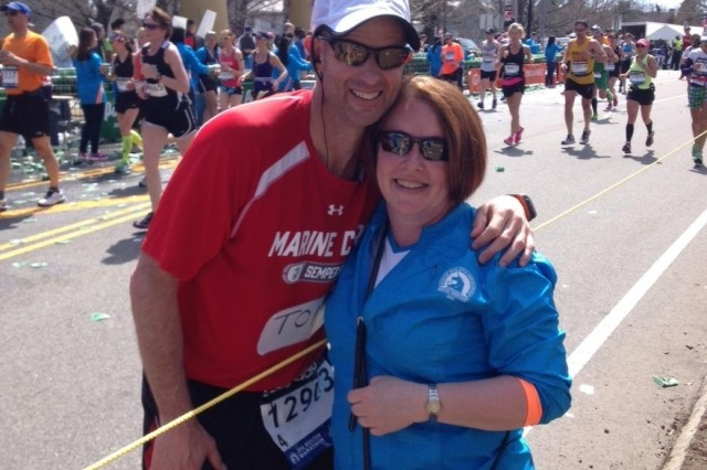 A profound 26.2 miles: Henderson Hall commander runs at emotionally-charged Boston Marathon