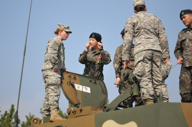 South korea u s leaders discuss integrating women into - How to become an army officer after college ...