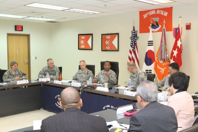Lt. Gen. Robert S. Ferrell, Army Chief Information Officer/G-6 comments on project on USAG Humphreys