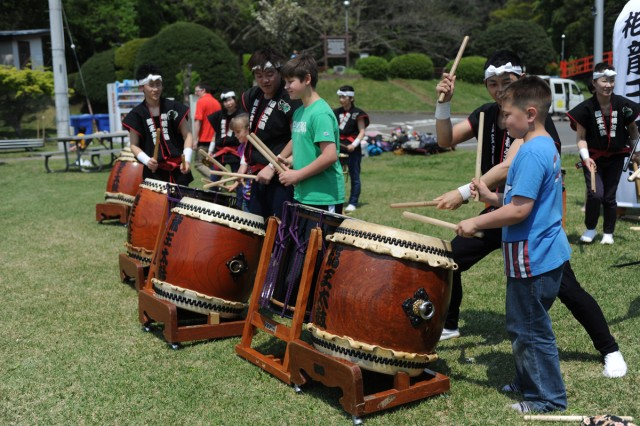 "The ""Kodomo no Matsuri"" (Children's Festival) was held April 26 at Dewey Park on Camp Zama in support of the ""Month of the Military Child"". Children from the community participated in several activities at the event to include a chance to play Taiko drums (Japanese drums)."