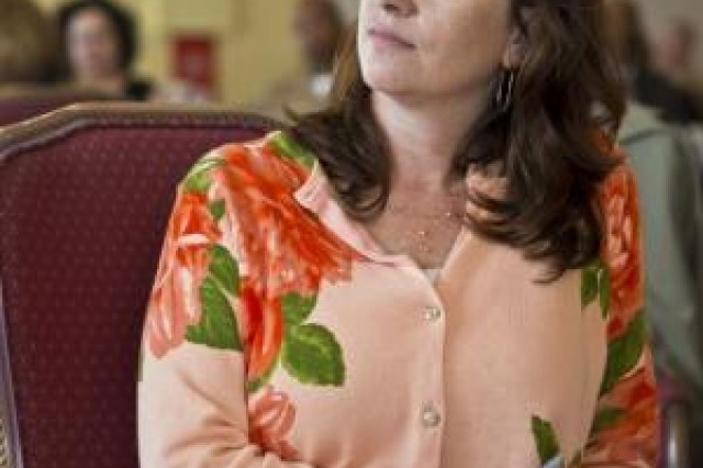 "Sunny R. Street listens as anonymous statements from victims of sexual assault are read during a Sexual Assault Prevention and Response luncheon April 25 at the Butler Officers' Club on Camp Foster. ""(This year's report) will be out in May but supplementary information reveals that we have had an 86 percent increase in reports of sexual assault,"" said Street a Vanceboro, N.C., native. ""That's an indicator that Marines and sailors have increased confidence, faith and trust in their commands, the program and the first responders."" Street is the Marine Corps Base Camp Smedley D. Butler, Marine Corps Installations Pacific, sexual assault response coordinator."