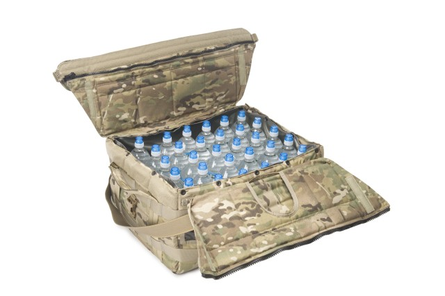 Large version of NSRDEC's new Insulated Container for Bottled Water, holding 36 water bottles