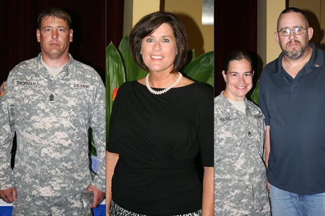 1st Sgt. Steven Thorman, Active Duty Volunteer; Rhonda Blair, Lifetime Achievement Award; The Yearicks Family, Volunteer Family of the Year