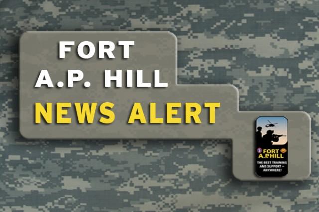 Fort A.P. Hill News Alert