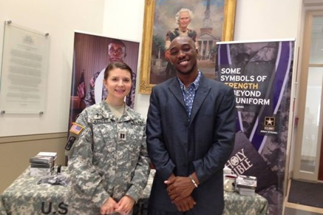 U.S. Army Chaplain (Capt.) Mel Baars O'Malley served as a part of the U.S. Army Chaplain Recruiting Team in Texas.