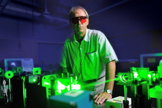 Army researchers like Brian Kimball work to advance laser eye protection at the U.S. Army Natick Soldier Research, Development and Engineering Center, Natick, Mass.