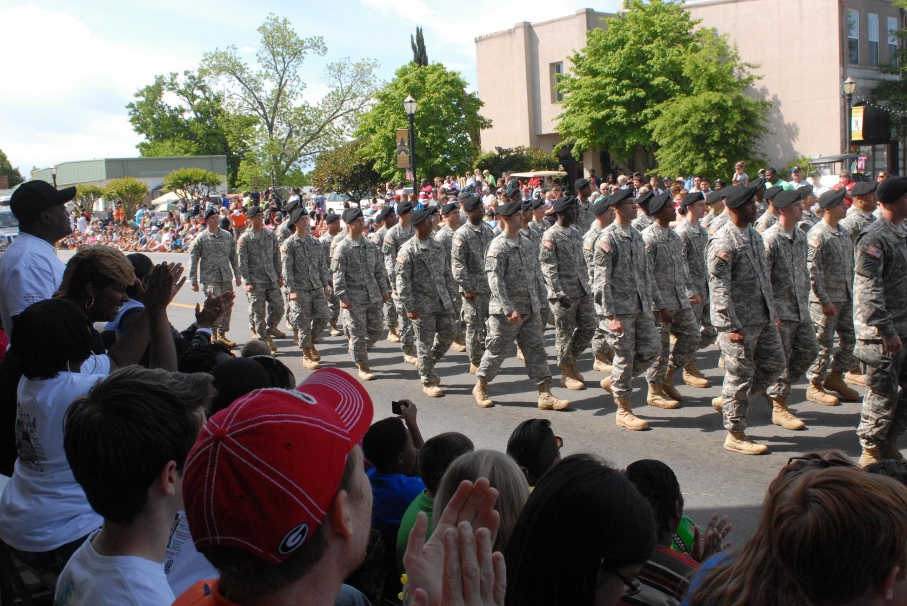 Swainsboro (GA) United States  City new picture : SWAINSBORO, Ga. Crowds waved and cheered as 92 Dog Face soldiers ...