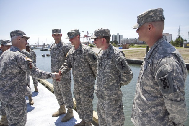 Ceremony pre-empted by real-world emergency as Army Reserve Soldiers respond
