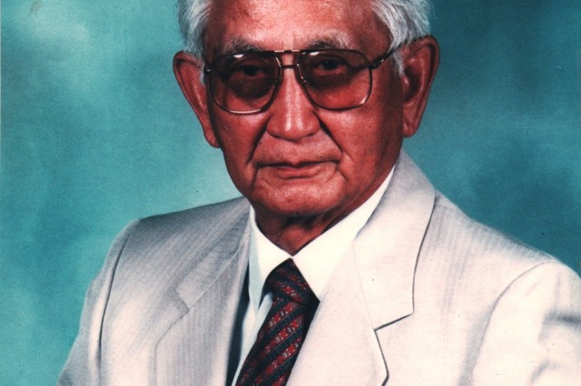 Col (Retired) Harry K. Fukuhara in 1993 when he was chosen as a Distinguished Member of the MI Corps in recognition of his 48 years of dedicated service to Army Intelligence.