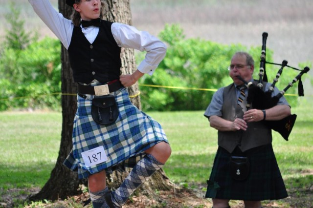 Albert Murphy, 13 years old, of Nashville, Tenn., competes as a novice in the Highland Dance Competition. He performed the iconic four-step Fling during the Savannah Scottish Games, May 10, 2014.