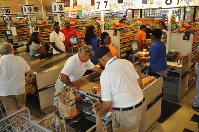 Customers shop at the Fort Jackson Commissary May 13, 2014. The store was named second best large commissary in the United States.